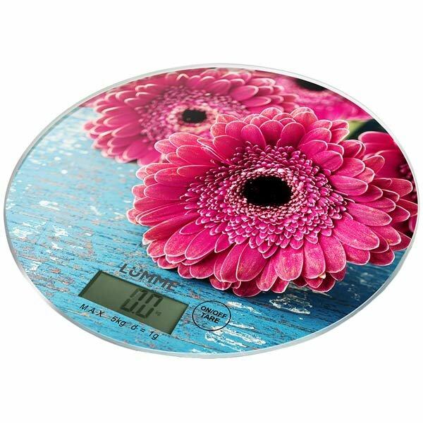 Весы кухонные Lumme LU-1341 розовая гербера