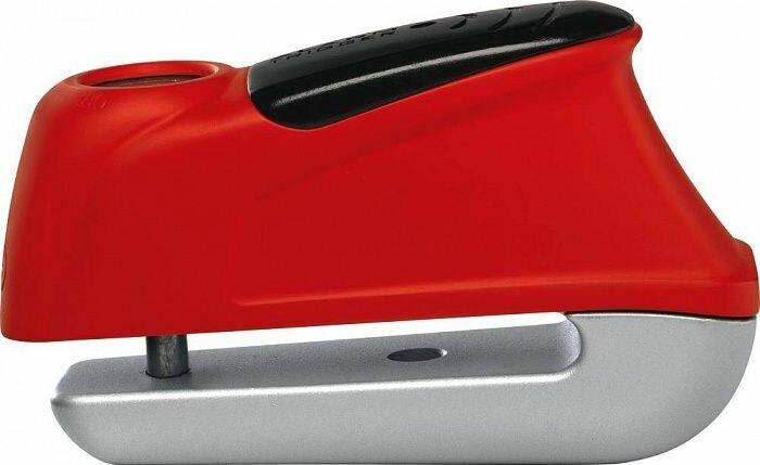 Замок на тормозной диск ABUS 345 Trigger с сигнализацией 5mm, красный