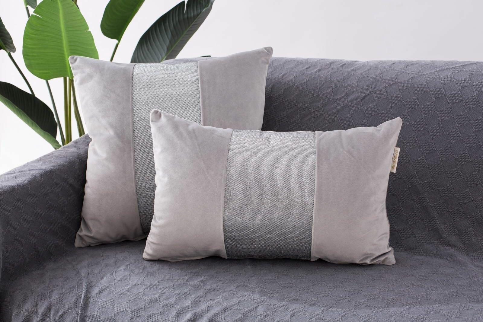 Наволочка декоративная Sofi de Marko, Амели 30х50, Вискоза, 30x50 см, серый