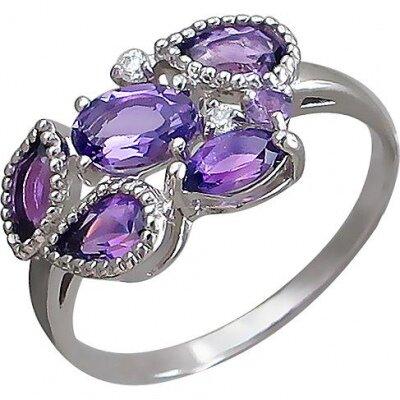 Кольцо Ювелирные традиции из серебра, 844554, 1.8 г