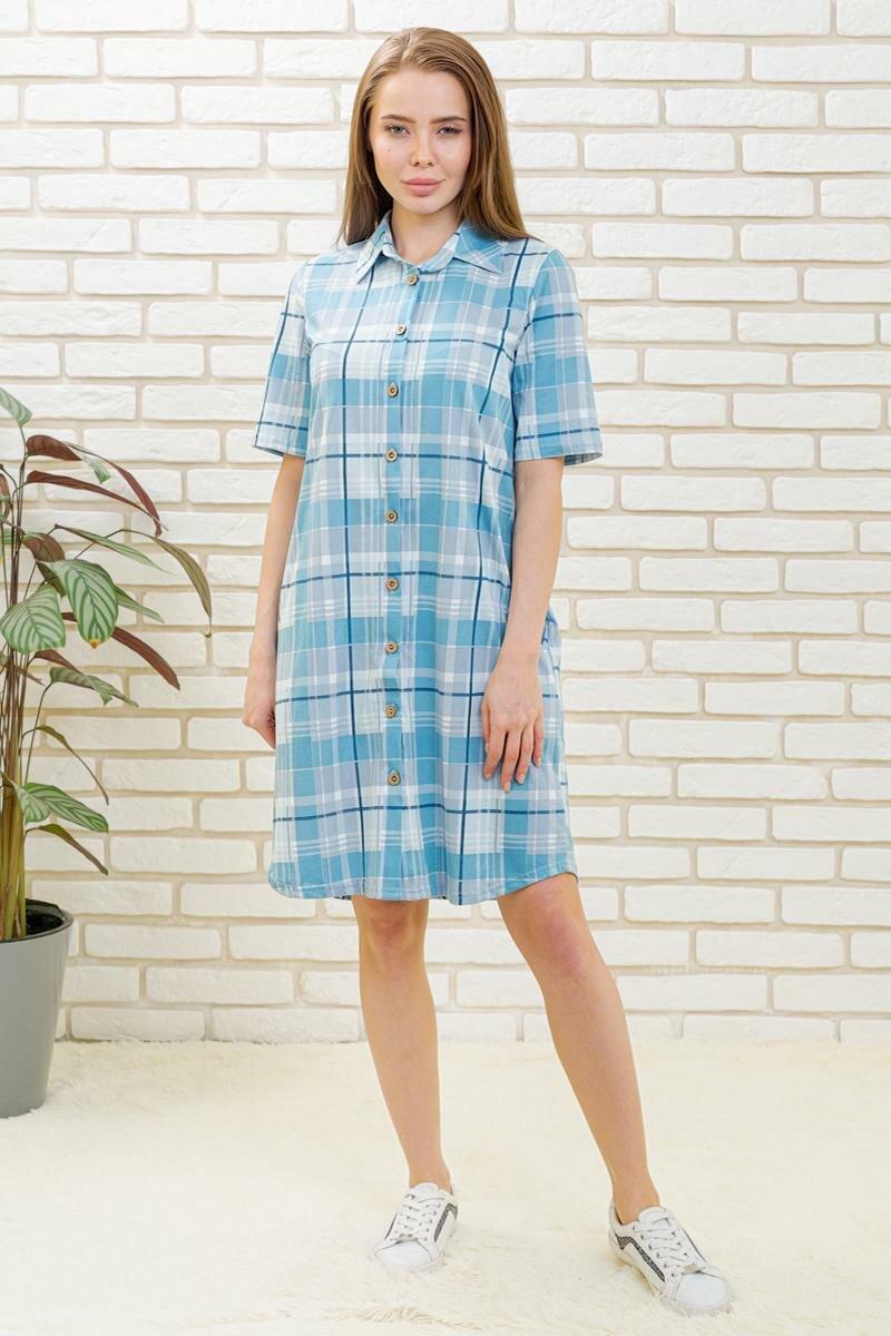 Жен. платье Лика Дресс Таира Голубой размер 50 Кулирка