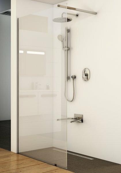 Душевая перегородка Ravak Walk-In Wall 100 (GW9WA0C00Z1) блестящий профиль прозрачное стекло