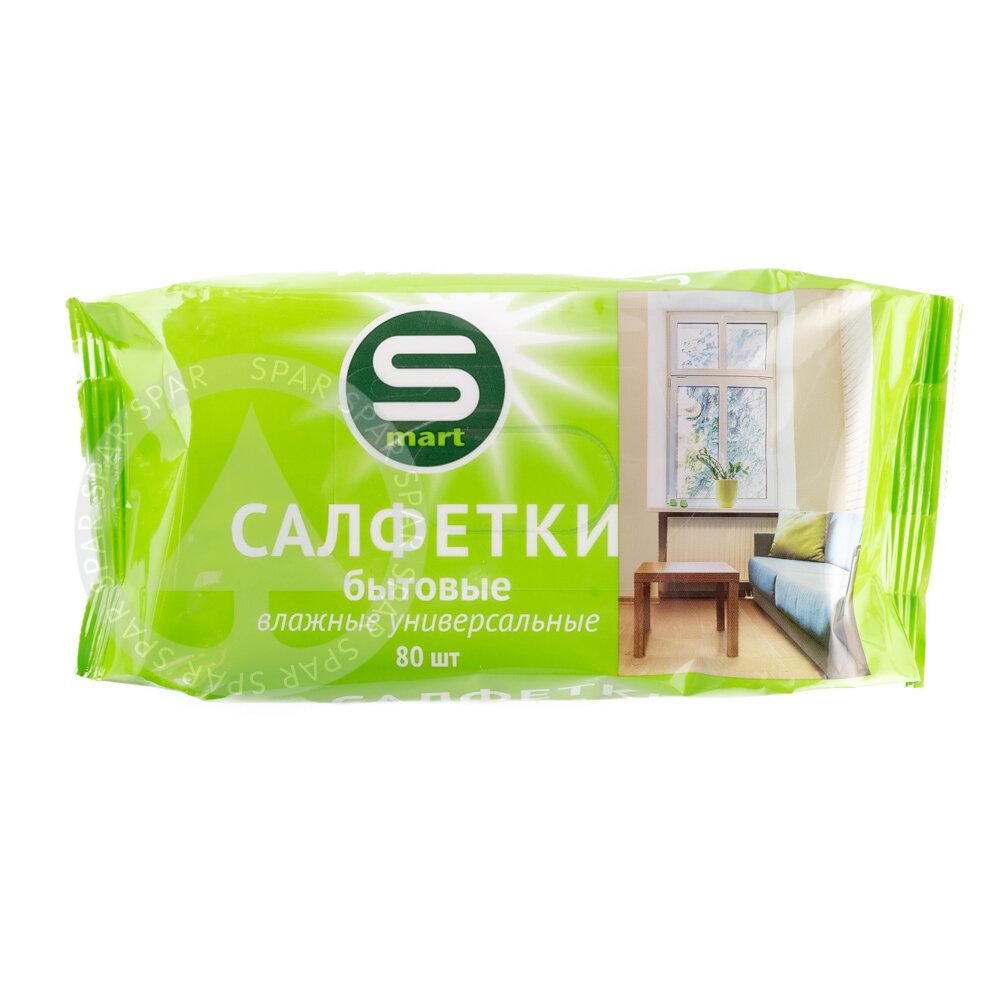 Влажные салфетки Smart бытовые универсальные 80 шт