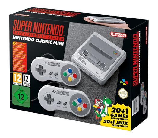 Игровая приставка Nintendo Classic Mini: Super Nintendo Entertainment System + Джойстики (2 шт) + 21 игра