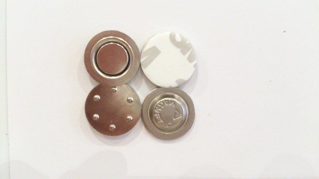 Магнитная застежка для бейджа D17 мм, металл (250 шт.)