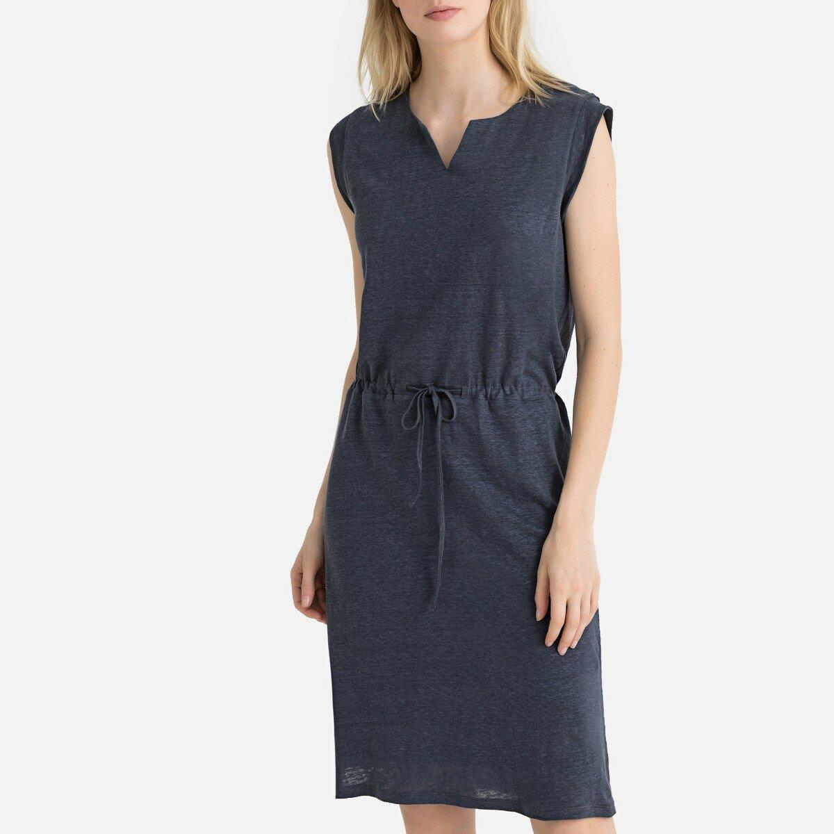 Платье La Redoute Короткое расклешенное с короткими рукавами