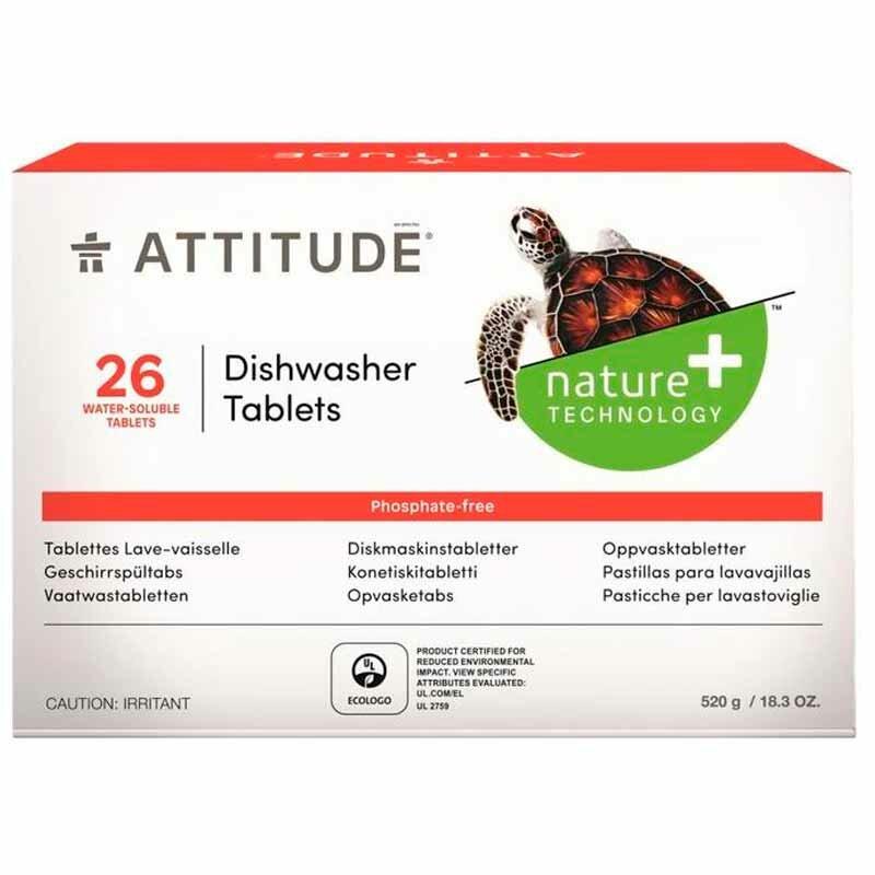 Таблетки Attitude для посудомоечных машин, 26шт