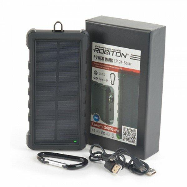Внешний аккумулятор с солнечной батареей Robiton 24000мАч Robiton 1236-02