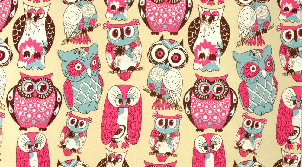 Ткань FASHION BIRDS pink