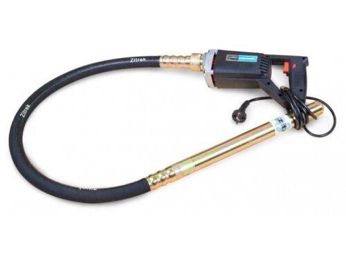 Строительное оборудование Zitrek вибратор глубинный Z-35-1,5 (портативный, 220 В, вал 1.5 м, встроенная булава 35 мм)