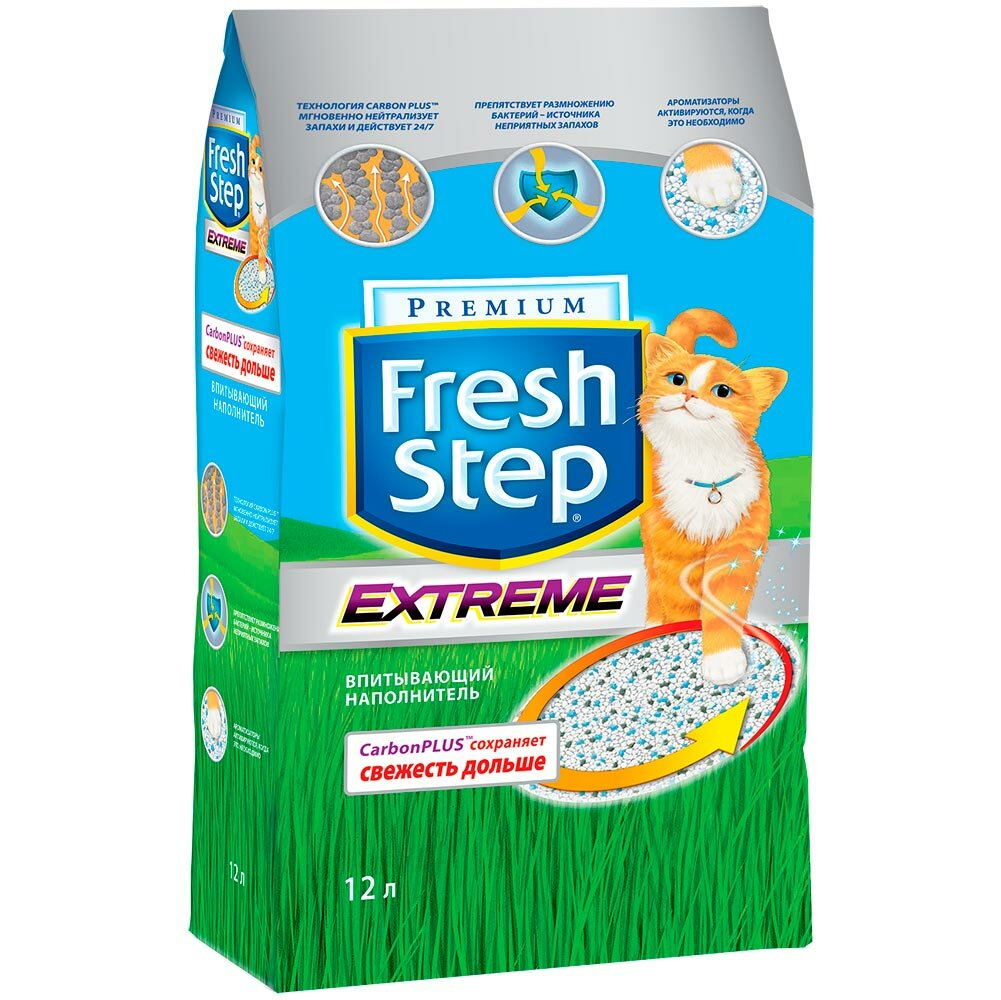 Наполнители для кошачьих туалетов Fresh step Extreme Впитывающий наполнитель 18 л (9.52 кг)