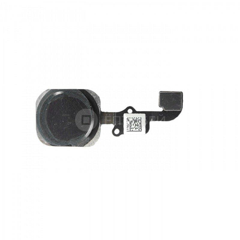 Кнопка HOME со шлейфом для iPhone 6s черная