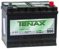 Аккумулятор автомобильный Tenax High 68 А/ч 550 А обр. пол. Азия авто (261x175x220) TE-D26L-2 с бортиком