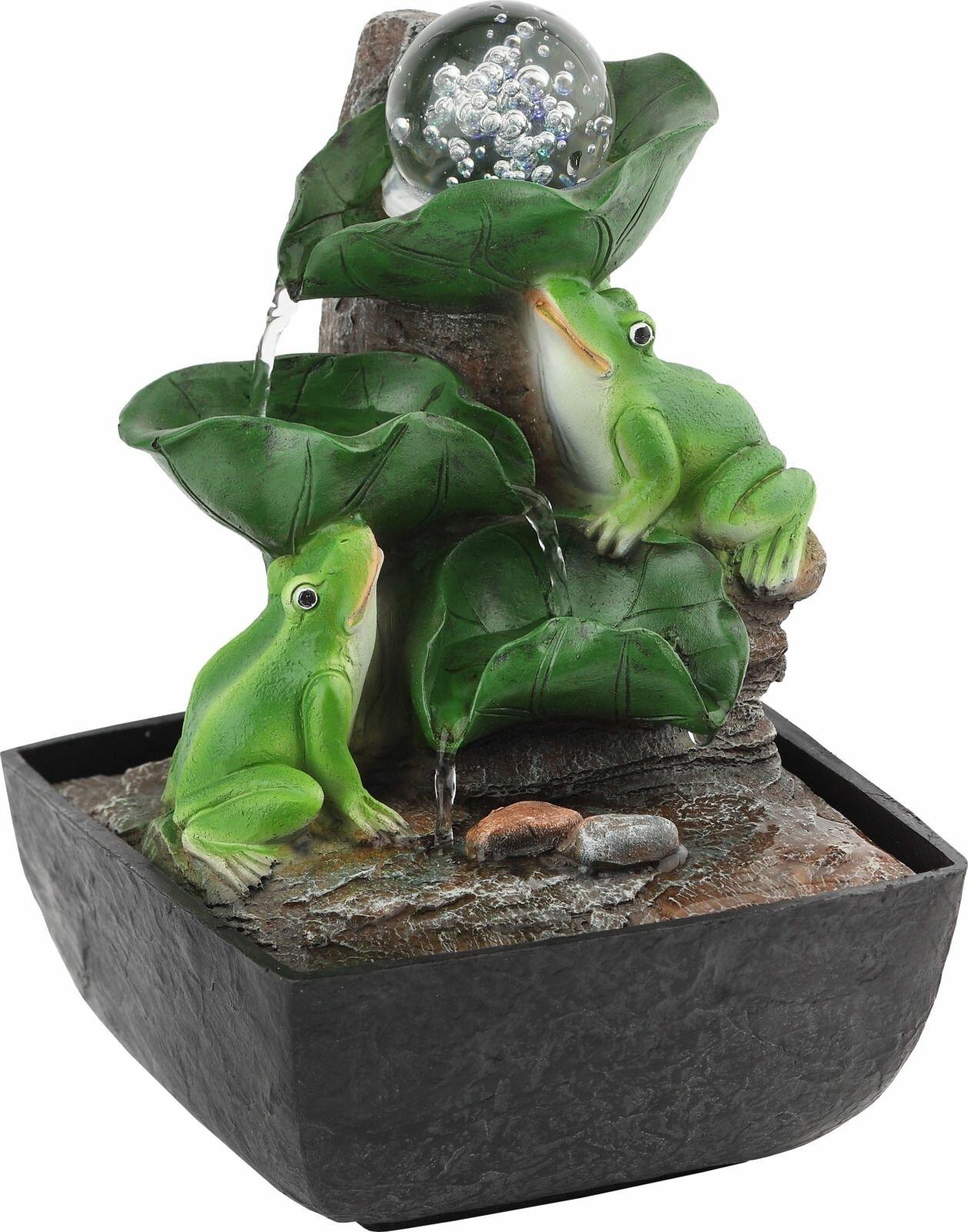 Домашний фонтан Green Apple Лягушки с шаром настольный, с подсветкой