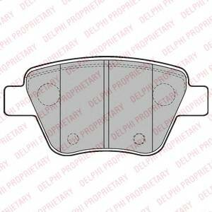 Колодки тормозные skoda octavia 04-/superb 08-/vw caddy/touran 10- задние Delphi LP2178