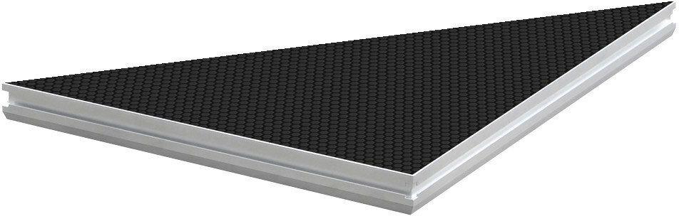 Dura Truss DS-PROSTAGE 100x100 TRIANGLE Модуль сценический 1х1 м, треугольный, рама из алюминиевого профиля, основание из фанеры, не скользкое влагостойкое черное покрытие. Нагрузка 500 кг/кв.м