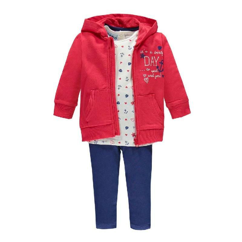 Комплекты Bimbus Спортивный костюм (толстовка, футболка, брюки) красный/синий