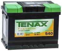 Аккумулятор автомобильный Tenax Premium 60 А/ч 540 А обр. пол. низкий Евро авто (242x175x175) TE-T5-1