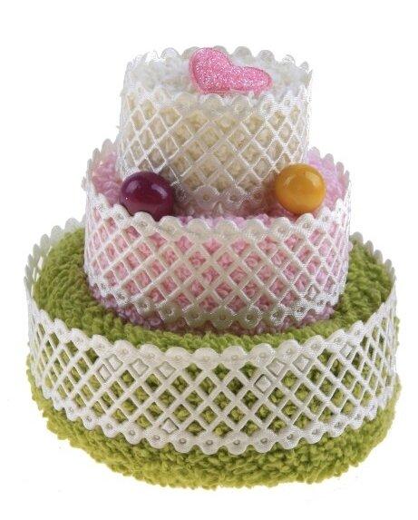 Lakshmi Полотенце сувенирное махровое Трехярусной тортик 20х20 см