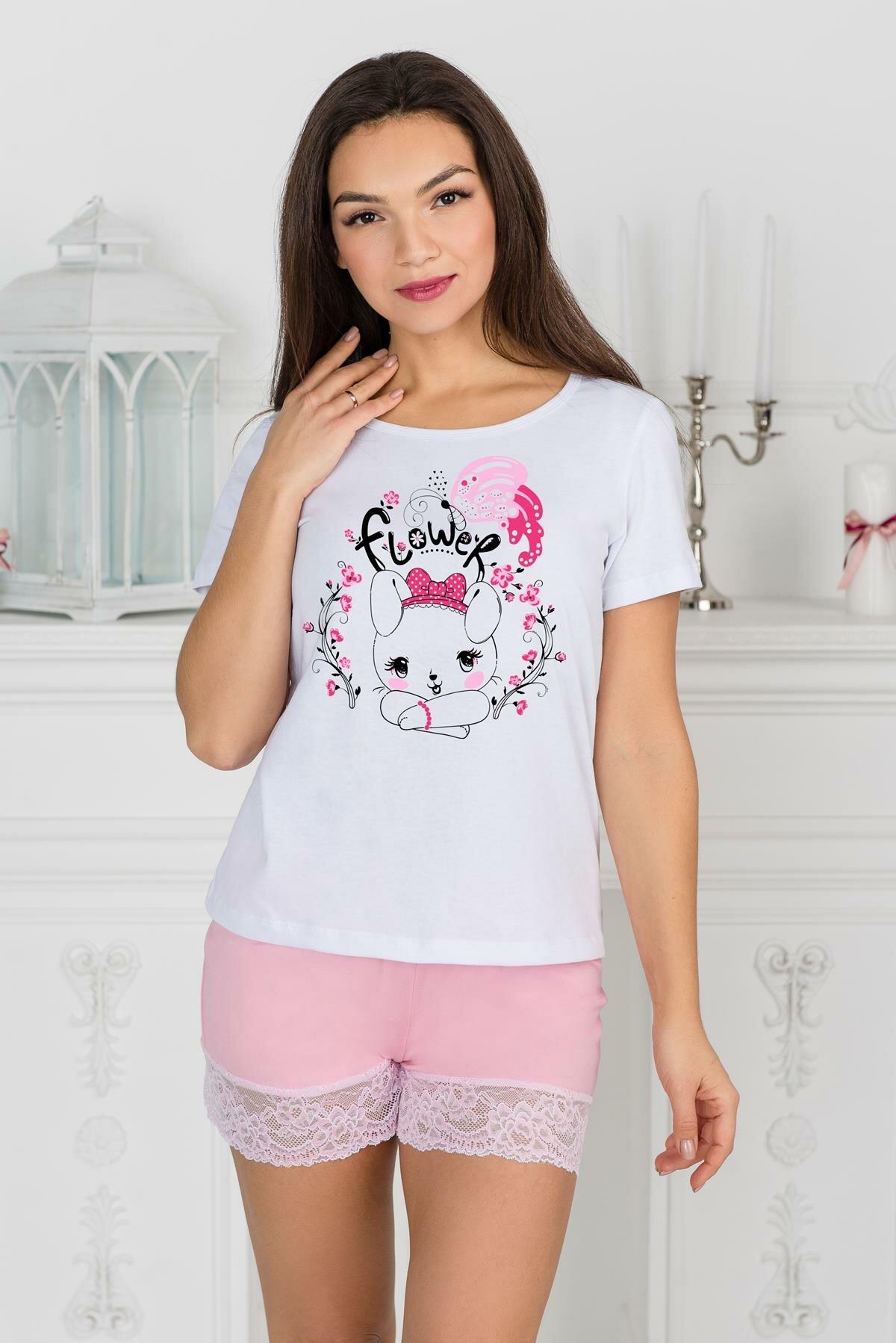 Жен. шорты Шарлиз арт. 19-0370 Розовый размер 52 Вискоза