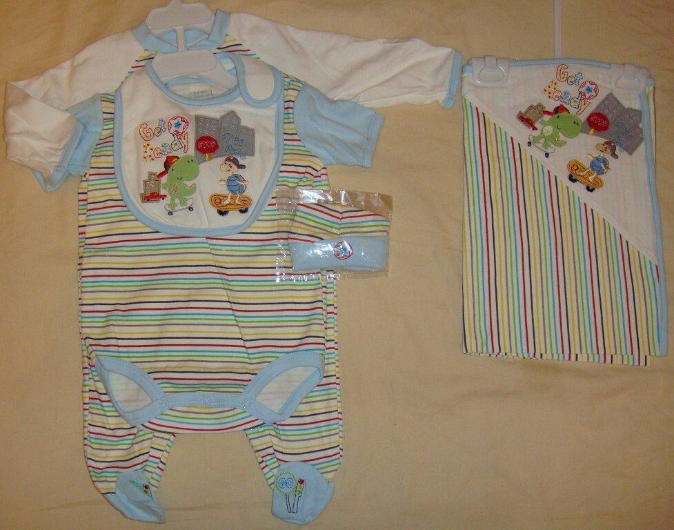 Little Комплект для новорожденного мальчика из 5-и предметов, Размер: 6-9 мес.