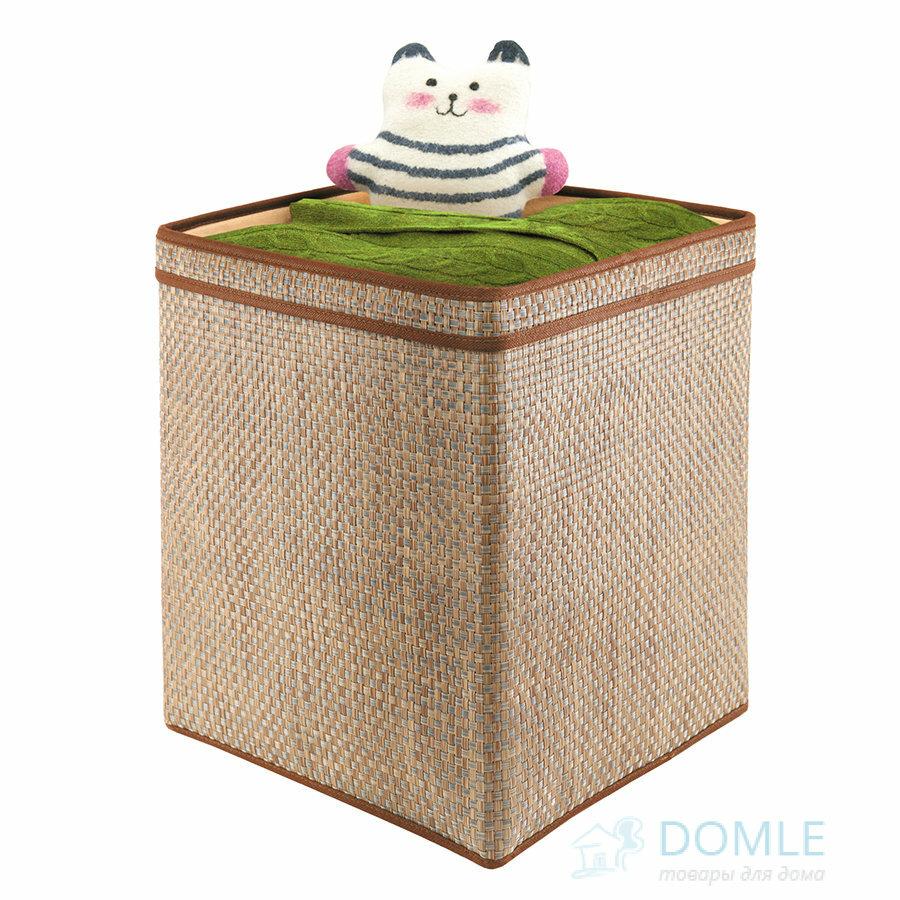 Корзина для хранения вещей и игрушек с ручками коричневая 32 х 32 х 41 см. Casy Home, арт.ВА-052