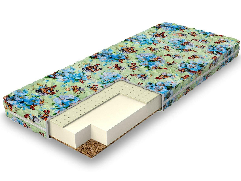 Детский матрас Dimax Очумелкин 90x190 см (190x90 см, 90 x 190 см, 900 x 1900 мм) для ребенка, Кокос 1см + Пена Balance Foam + Латекс 1см, высота 13 см