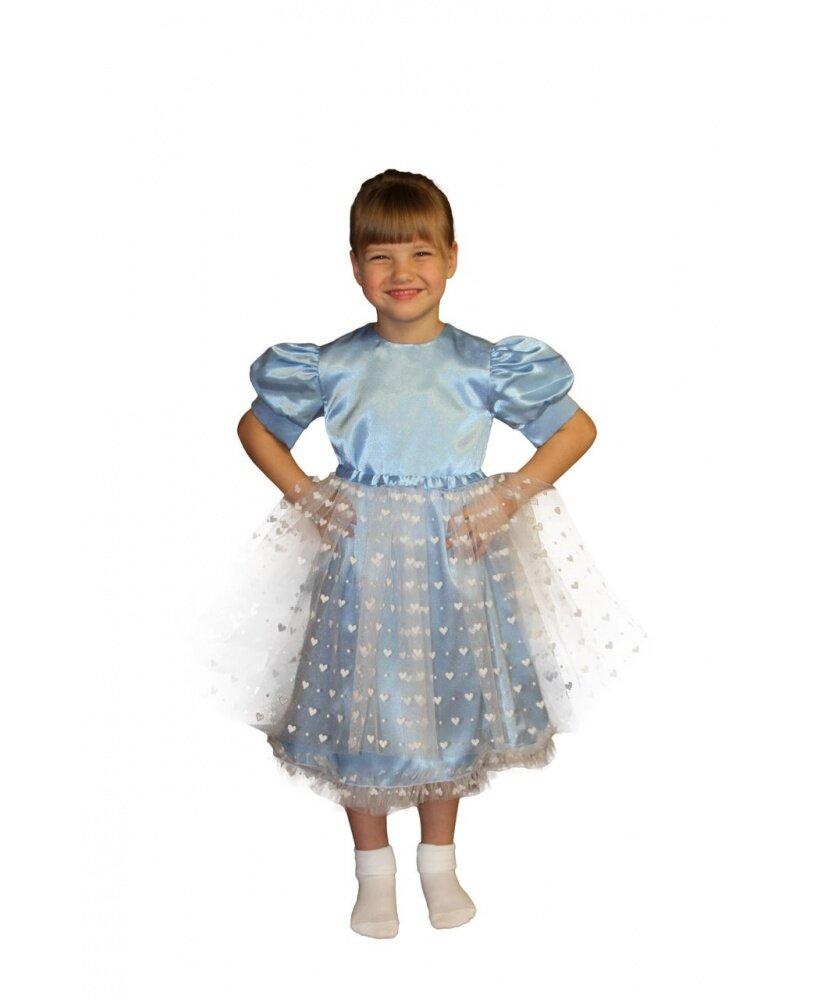 Платье Снежинки Голубое