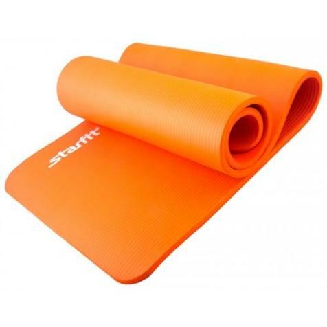 Коврик для йоги NBR, 183x58x1,5 см, черный STARFIT