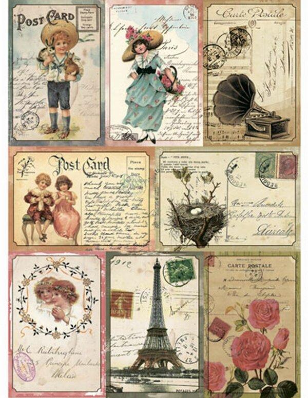Рождения, антикварные марки открытки