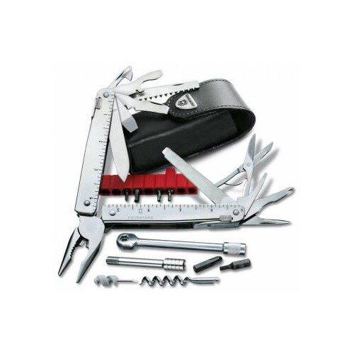 Мультитул VICTORINOX SwissTool X Plus Ratchet, 40 функций, серебристый [3.0339.l]