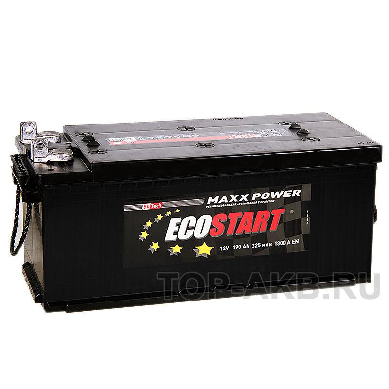 Автомобильный аккумулятор Ecostart 6СТ-190 190 A/ч, 1300 A, Прямая полярность, 513x223x217