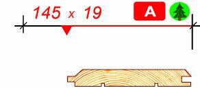 Имитация бруса сосна 145 х 19 сорт A 6.0 метра
