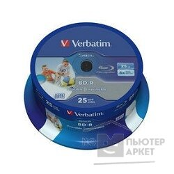 Verbatim BD-R 25 GB 6x CB 25 Full Ink Print NO ID 43811