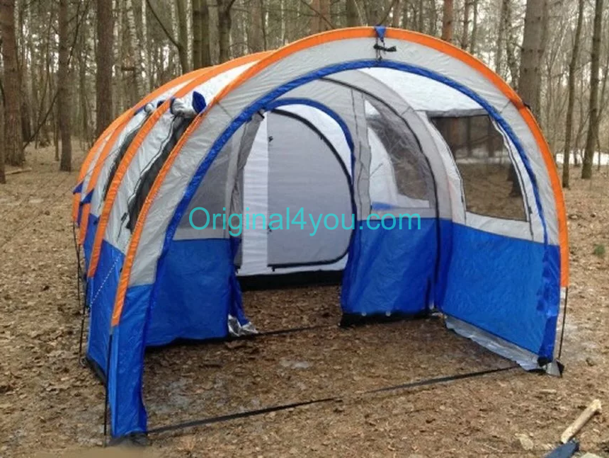Палатка LANYU LY-1801 4-х местная двухкомнатная 480х260х200см туристическая кемпинговая
