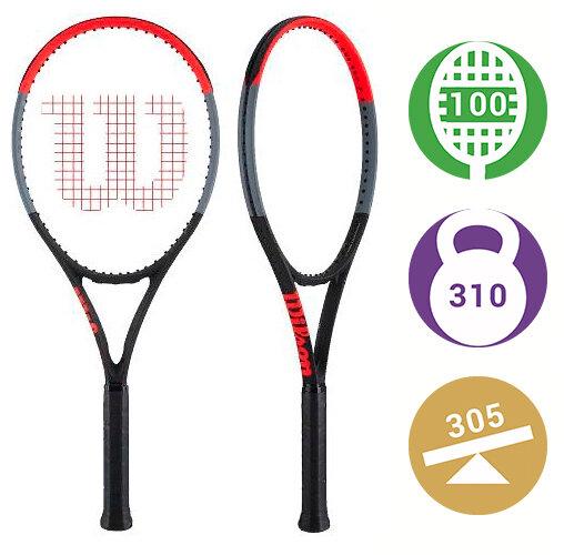 Теннисная ракетка Wilson Clash 100 Tour самая мощная ракетка этого веса. При тестировании показала очень высокую скорость подачи.