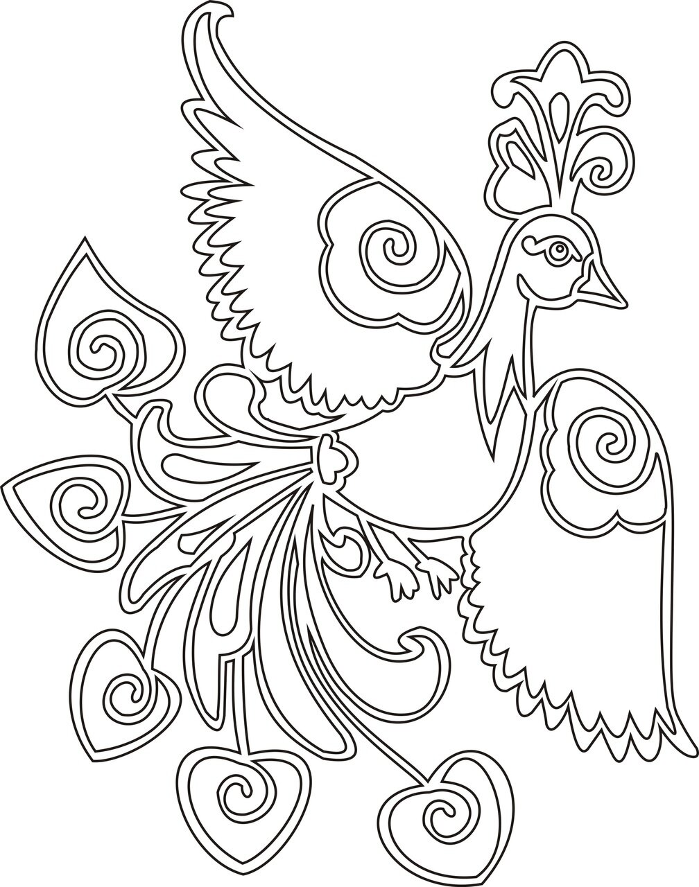 Рисунки жар птицы для срисовки