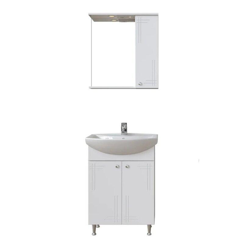 Комплект мебели для ванной San Star Июнь 60 2.1-1.4.1.+131203S0011B0+5.1-2.4.1. Белый