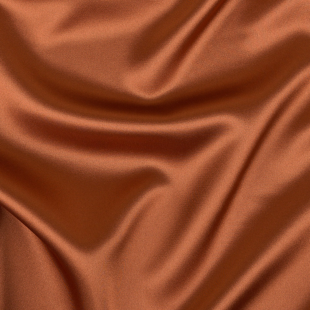 Ткань блузочная PSS-001 Poly satin фасовка 100 г/кв.м ± 5 г/кв.м 100 х 145 см 95% полиэстер, 5% спандекс №24 медный
