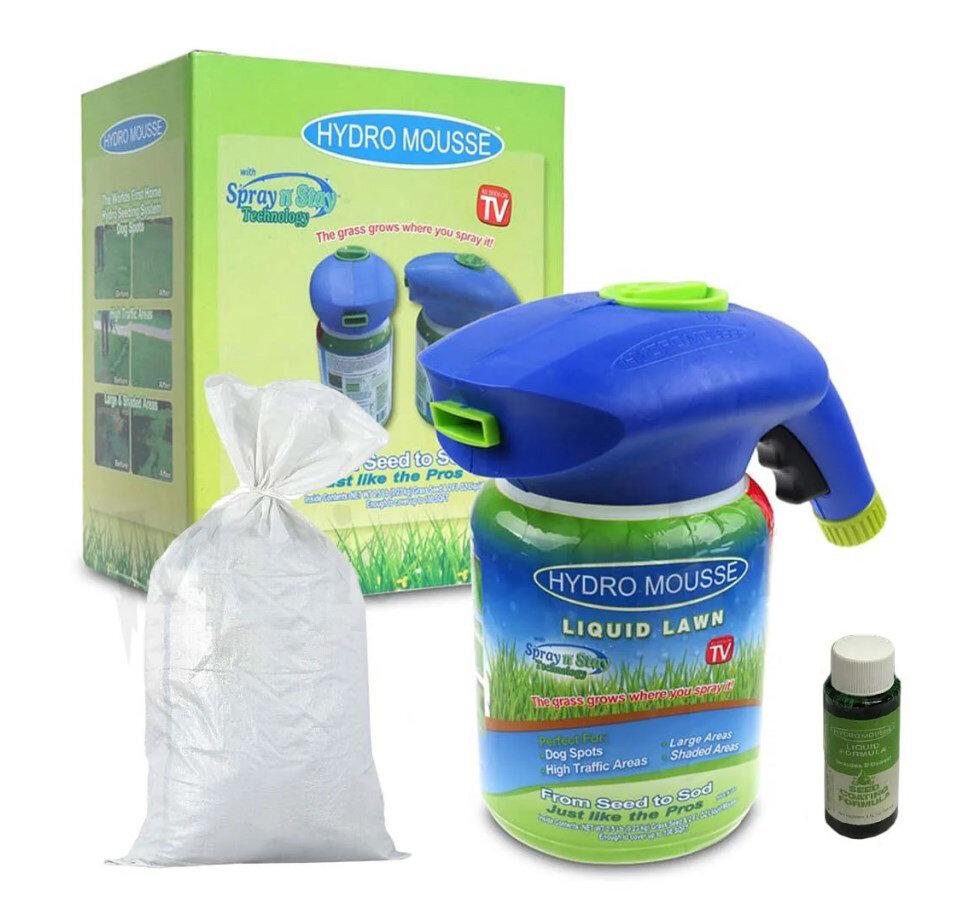 Жидкий газон Hydro Mousse (Распылитель/мусс/семена)
