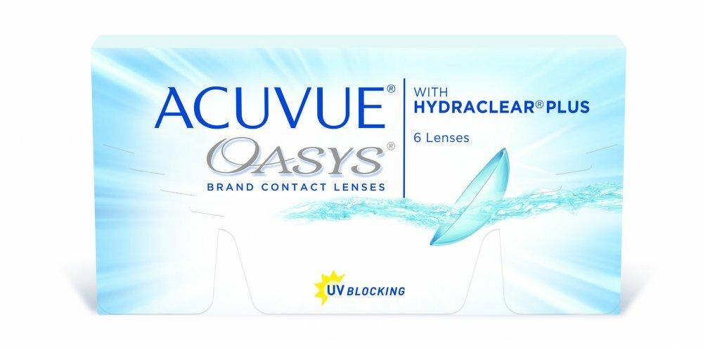 Контактные линзы Acuvue Oasys with Hydraclear Plus 6 шт.