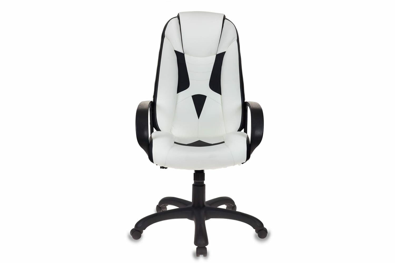 """Кресло игровое Бюрократ """"Бюрократ"""" VIKING-8 (Есть, Белый (кожзам)/Чёрный (кожзам)/Чёрный (пластик), Искусственная кожа/Пластик/Металл, VIKING-8/WH+BLACK)"""