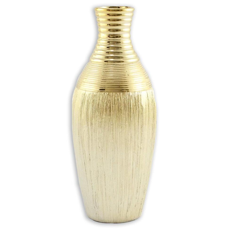 Ваза керамич. золото 30см арт. WS68