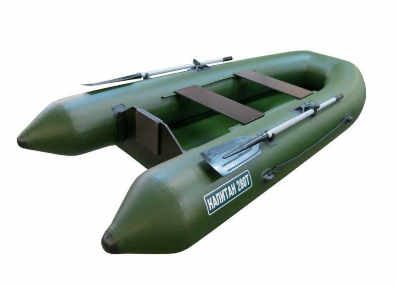 Лодка тонар Капитан 280Т с транцем (зеленый)