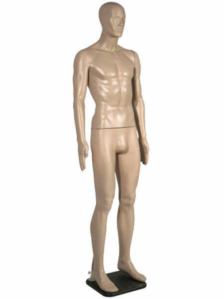 Манекен мужской, телесный, с лицом MMn-01