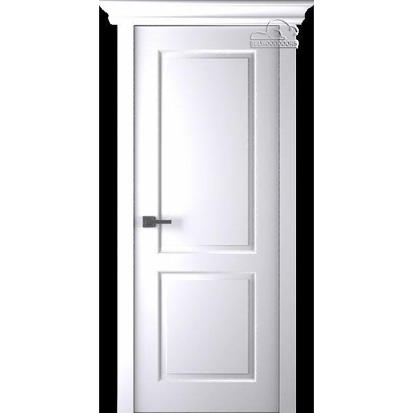 Дверь эмаль Belwooddoors Альта ДГ эмаль белая с зарезкой под замок
