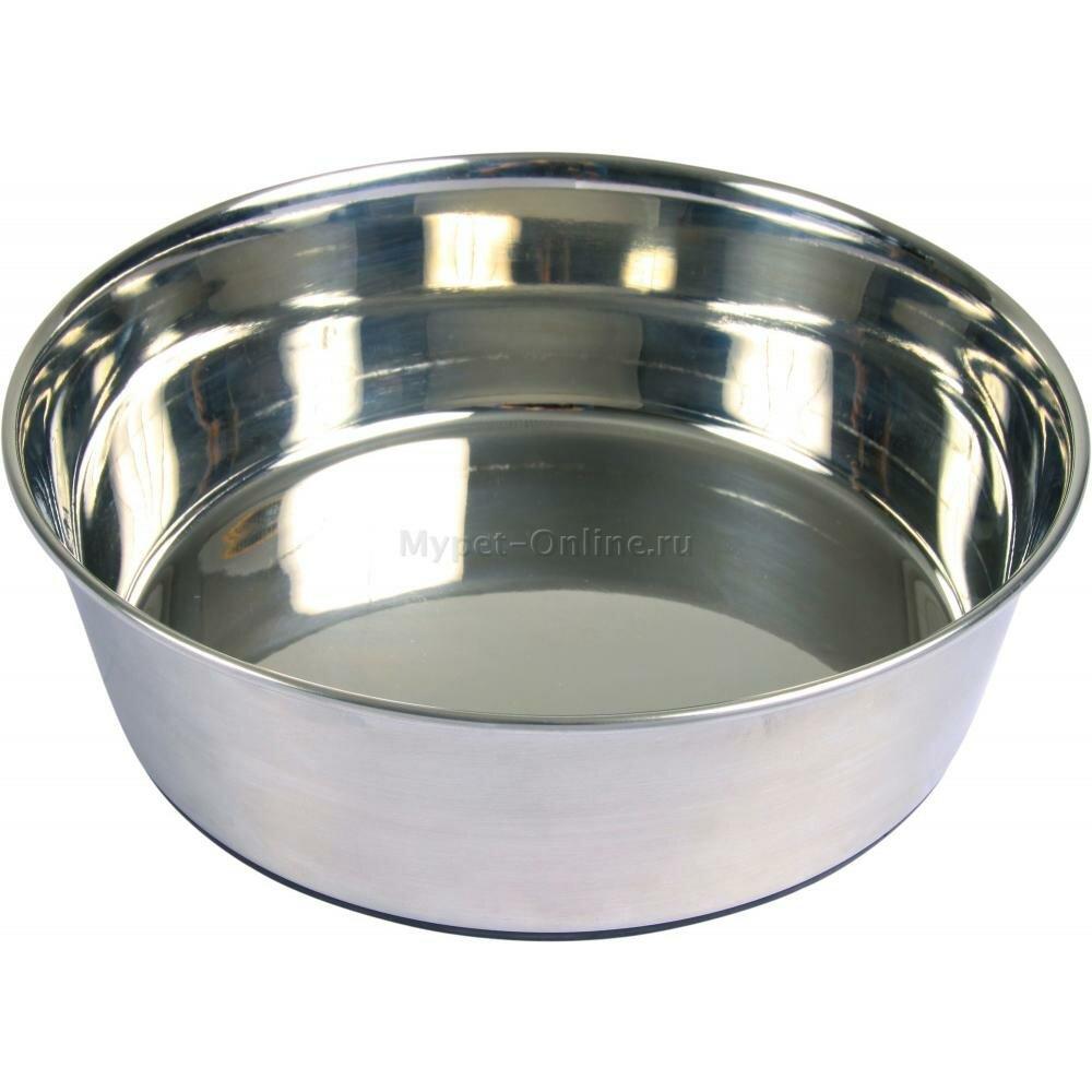 Миска для собак Trixie Stainless Steel Bowl, размер L, размер 21см.