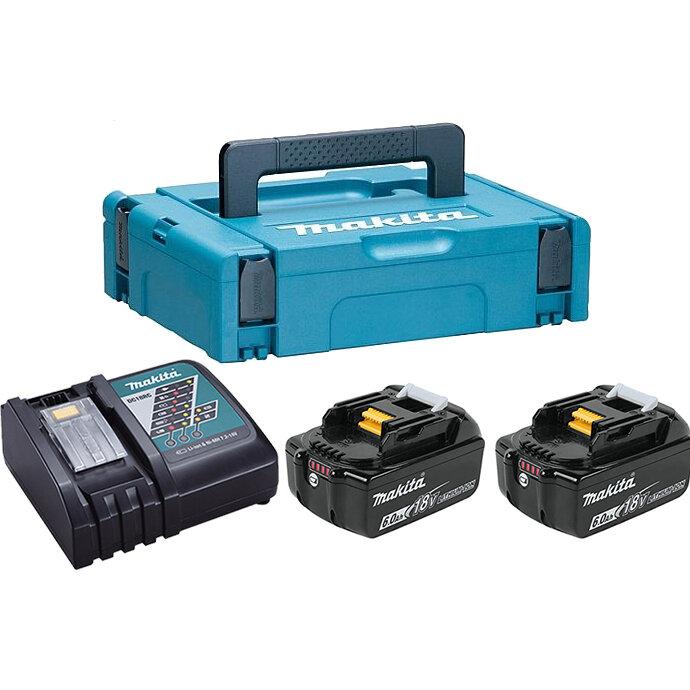 Аккумуляторные батареи + зарядное устройство Makita 198118-0 (DC18RC + 2хBL1860B)