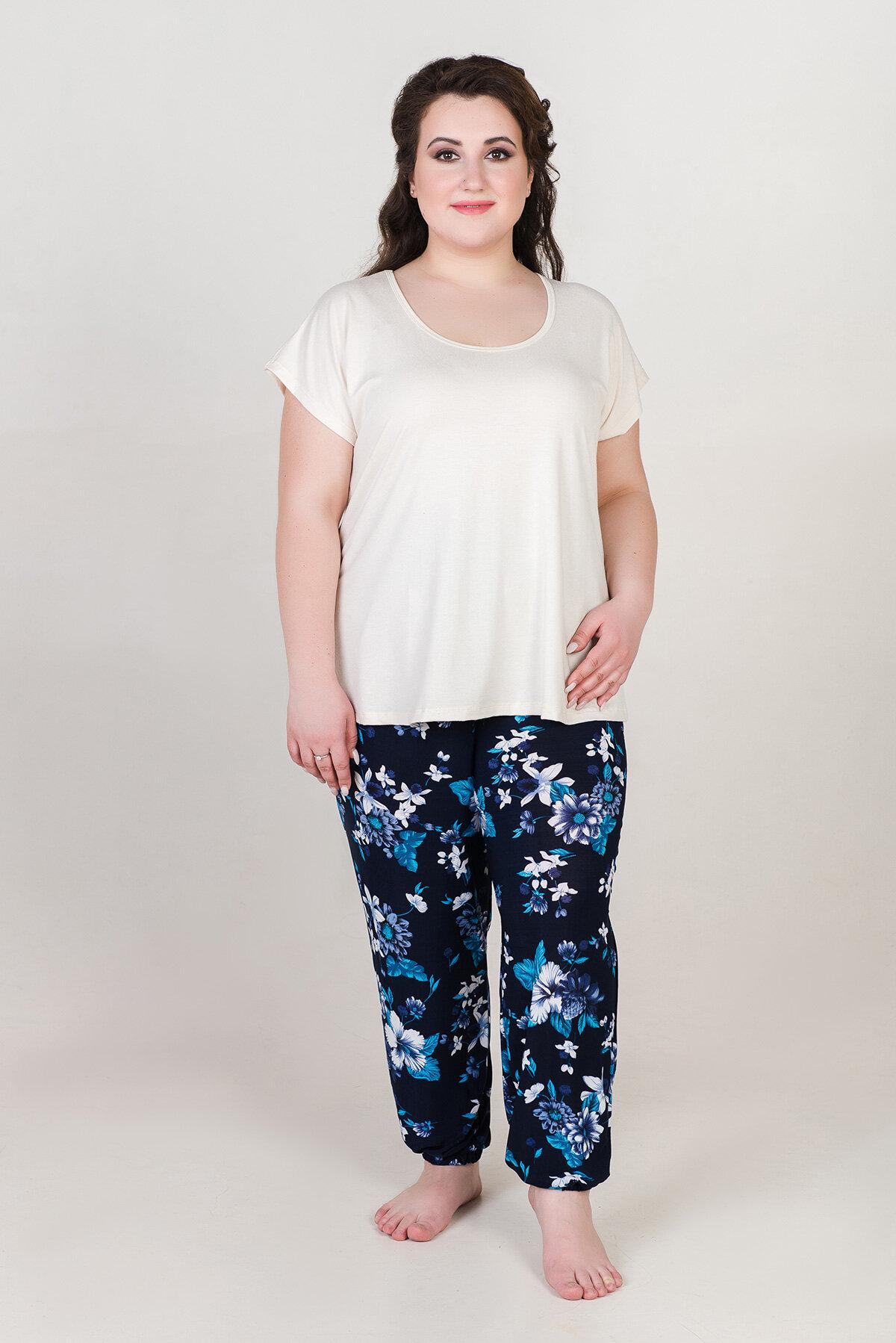 Жен. брюки Шарлиз арт. 19-0092 Сирень размер 46 Масло