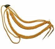 Аксельбант офицерский 2 наконечника золото